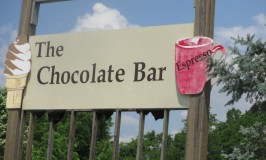 Sign @ the Chocolate Bar of Townsend